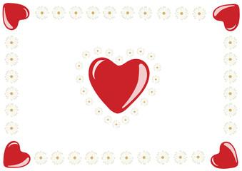 Herzen und Gänseblümchen