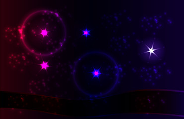 Vector abstract banners. dark night sky and starry