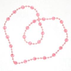 Heart Pink Beads