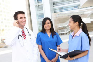 Doctor and Nurses at Hospital