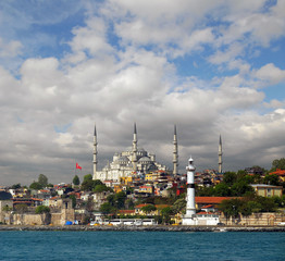 view of the mosque in Istanbul