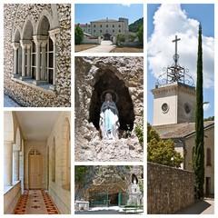 Composition de photographies de l'Abbaye de Sénanque