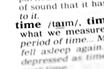 time (the dictionary project)