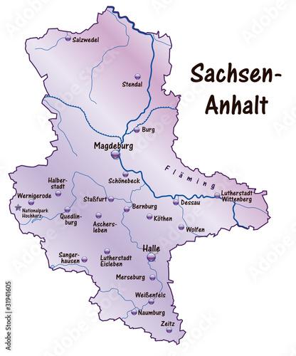 Karte Sachsen Anhalt Mit Flüssen.Sachsen Anhalt übersicht Flieder In Svg Stockfotos Und Lizenzfreie