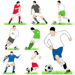 Football players set.03