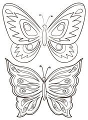 Butterflies, contours