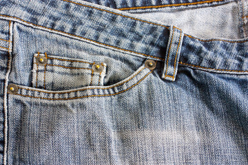 close up of jeans pocket
