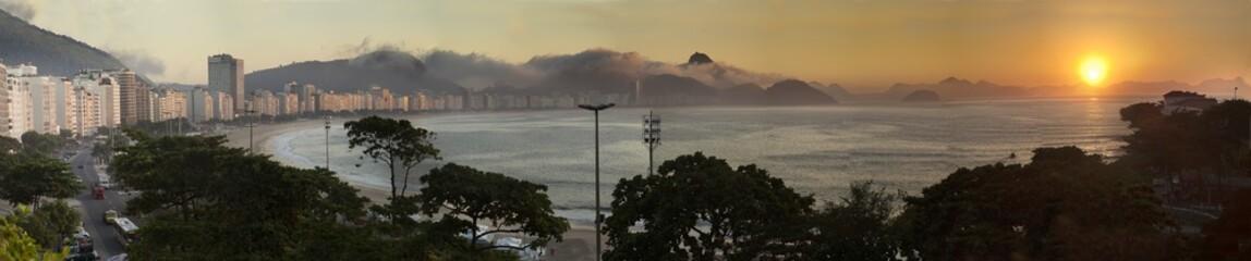 Copacabana beach, rio de Janeiro, sunrise
