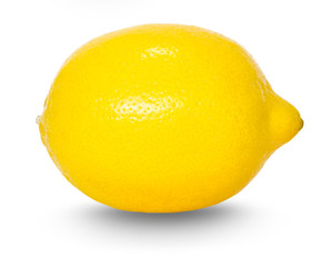 lemon with drop shadow