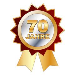 70 Jahre - Schild, Siegel, Aufkleber