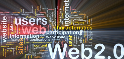 Web 2.0 background concept glowing