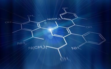 technology background: chemical formulas