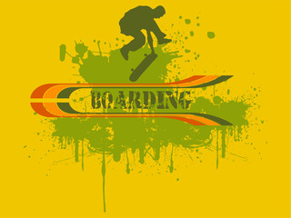 Vector illustration of a skateboarder silhouette