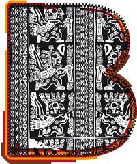 Foto op Aluminium Inca`s font