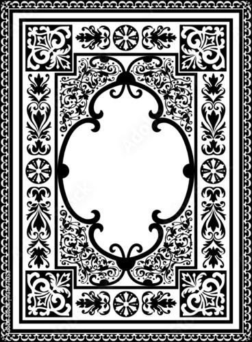 Bilderrahmen verzieren ornamente  Rahmen, Retro,Vintage, Buchcover, Teppichmuster, Teppich ...