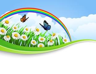 Zelfklevend Fotobehang Vlinders nature background