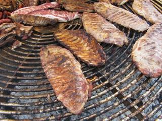 Barbecue, barbacoa de carne asada.