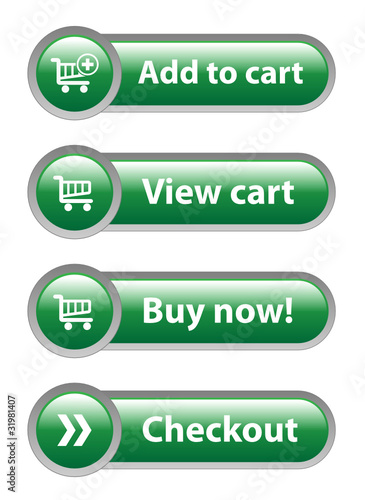 7c02c6440 ADD TO CART - VIEW CART - BUY NOW - CHECKOUT Green Web Buttons ...