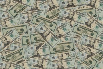 20 Dollar Bill Background