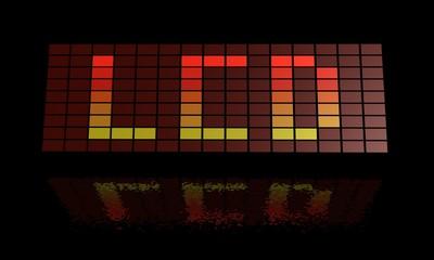 Fotobehang Pixel LCD