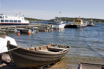 anlegestelle für boote in schweden
