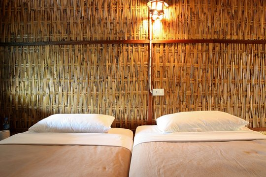 bamboo bed room