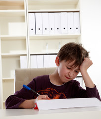 Schüler Lernen Hausaufgaben
