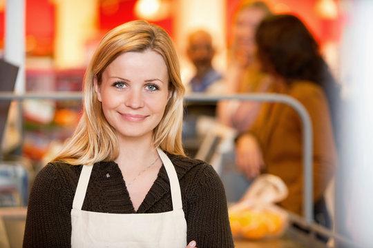 Portrait of a young shop assistant