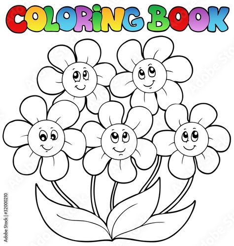 раскраска цветочки для маленьких