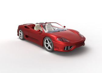 red sport car on white Wall mural