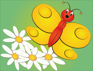 illustration of cartoon butterfly