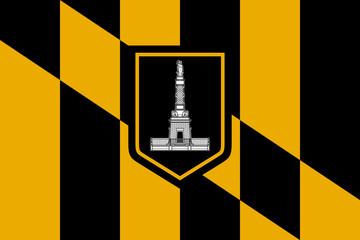 Fototapete - Baltimore city flag