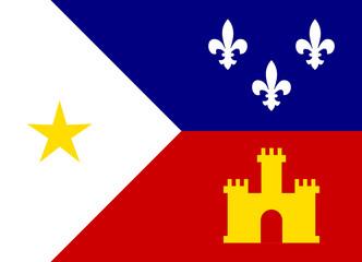 Wall Mural - Acadiana flag