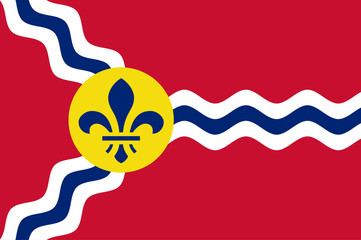 Wall Mural - St Louis flag