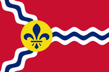 Fototapete - St Louis flag