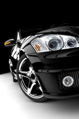 Fototapeta premium Czarny samochód