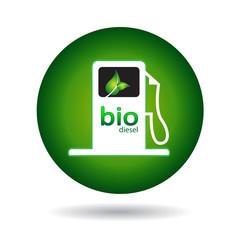 bio diesel gas pump icon