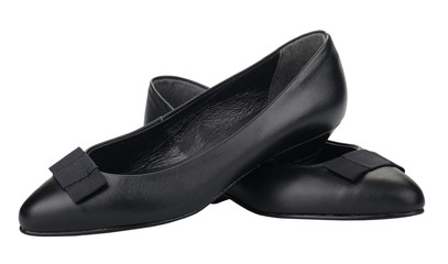 Black women's shoes, isolated