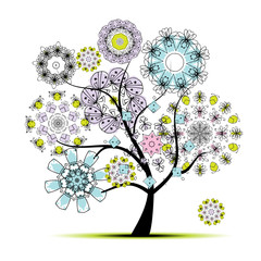 Floral art tree for your design