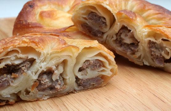 Burek, pie with meat