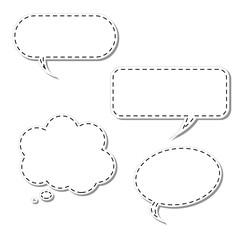 Vector Cartoon Thought Bubble