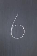 """Blackboard with """"6"""" written on it"""