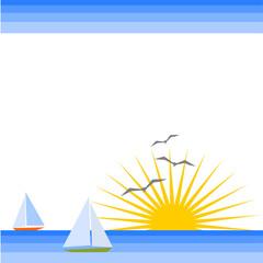 sfondo con mare e barche