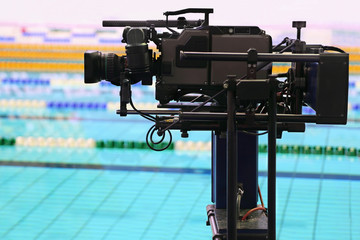 Professional camera for  survey of video in swimming pool