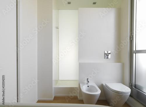 Bagno moderno con sanitari e doccia in muratura immagini e fotografie royalty free su fotolia - Bagno in muratura moderno ...