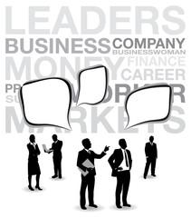 business people speech bubbles