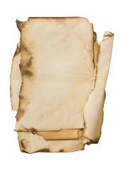 old burned paper background
