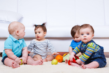 Four babies group