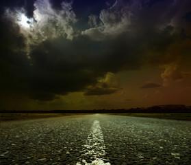 Poster Full moon asphalt