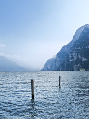 Lake Garda ( Lago di Garda). View from Riva del Garda.